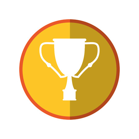 Trophy cup icon. Winner competition success price and award theme. Isolated design. Vector illustration Illustration