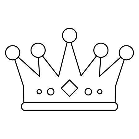 royalty: royalty crown icon. King queen luxury jewelry and kingdom theme. Isolated design. Vector illustration