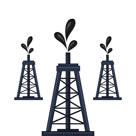 Tower icon. Oil price industry fuel production and gasoline theme. Isolated design. Vector illustration