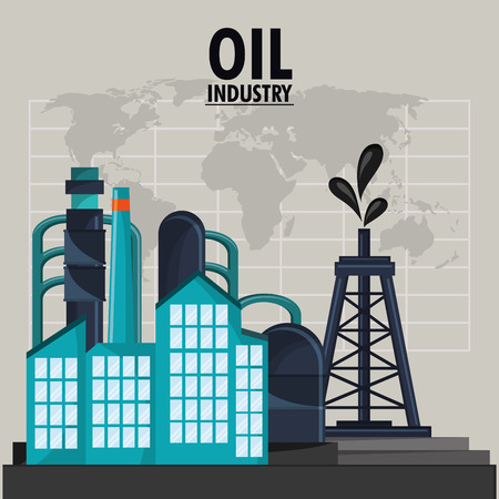 petrochemical: Tower icon. Oil price industry fuel production and gasoline theme. Isolated design. Vector illustration