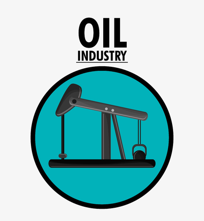 Oil pump icon. Oil price industry fuel production and gasoline theme. Isolated design. Vector illustration