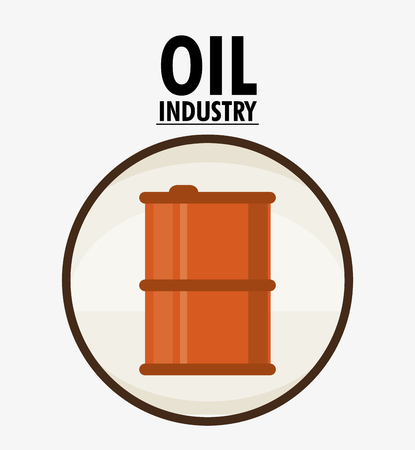 petrochemical: Barrel icon. Oil price industry fuel production and gasoline theme. Isolated design. Vector illustration Illustration