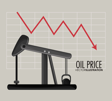 petrochemical: Oil pump icon. Oil price industry fuel production and gasoline theme. Isolated design. Vector illustration