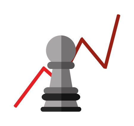 Chess icon. Infographic data information business and analytics theme. Isolated design. Vector illustration Illustration