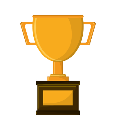 competitor: Trophy cup icon. Winner competition success price and award theme. Isolated design. Vector illustration Illustration