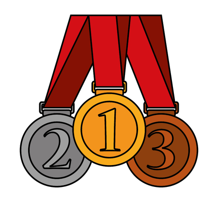 Medal icon. Winner competition success price and award theme. Isolated design. Vector illustration