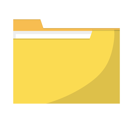 organize: Yellow file icon. Folder data archive storage and organize theme. Colorful and isolated design. illustration Illustration