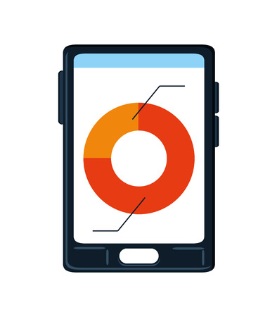 infomation: Smartphone icon. Infographic data information business and analiytics theme. Colorful and isolated design. illustration