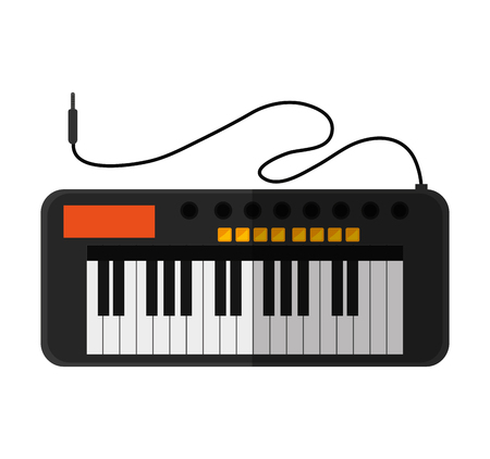 melody: Piano instrument icon. music sound melody and musical theme. Isolated design. Vector illustration