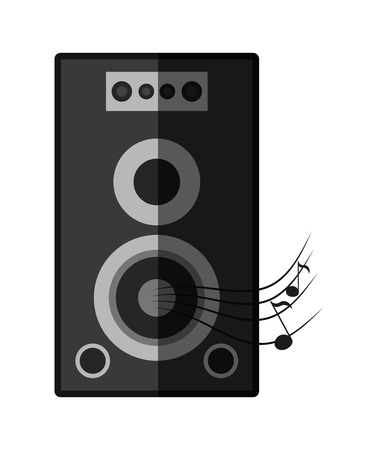 melody: Speaker icon. music sound melody and musical theme. Isolated design. Vector illustration