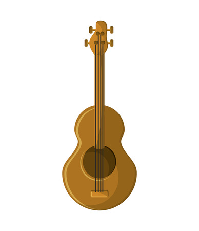 gutar: Guitar instrument icon. music sound melody and musical theme. Isolated design. Vector illustration Illustration