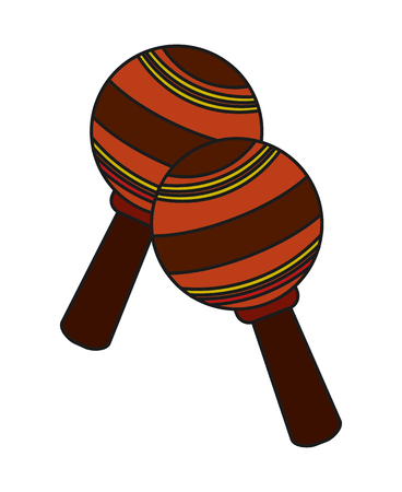 maraca: Maraca instrument icon. music sound melody and musical theme. Isolated design. Vector illustration
