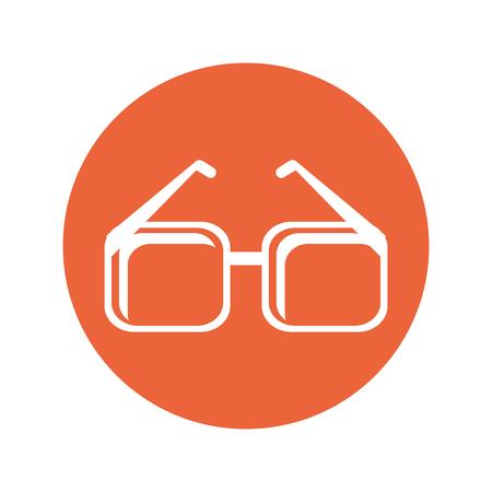 sight: Glasses accessory icon. Fashion style eyesight optical and lens theme. Isolated design. Vector illustration