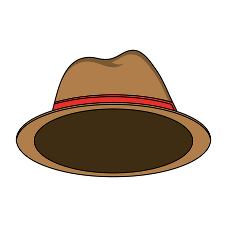 design costume: Hat accessory icon. Cloth costume wear and decoration theme. Isolated design. Vector illustration