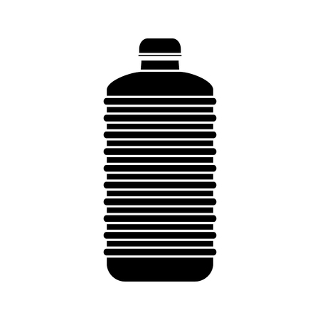 purified: Bottle of water icon. Drink mineral liquid and fresh theme. Isolated design. Vector illustration
