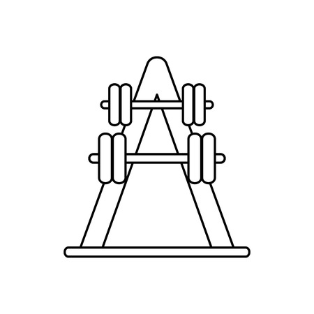 nutritional: Weight icon. Fitness gym bodybuilding bodycare and fit theme. Isolated design. Vector illustration