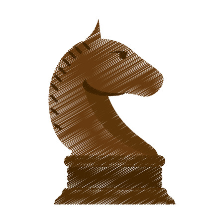 chess horse: Chess horse icon. Game strategy competition leisure and hobby theme. Isolated design. Vector illustration Illustration