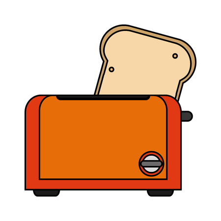 Toaster machine icon. House appliances supplies and electronic theme. Isolated design. Vector illustration