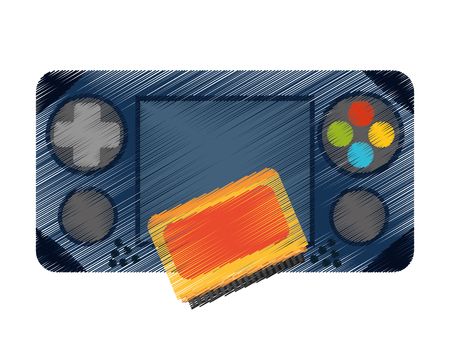 videogame: Videogame control icon. Game play leisure gaming and controller theme. Isolated design. Vector illustration Illustration
