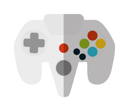 Videogame control icon. Game play leisure gaming and controller theme. Isolated design. Vector illustration Illustration
