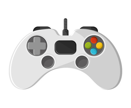 obsession: Videogame control icon. Game play leisure gaming and controller theme. Isolated design. Vector illustration Illustration