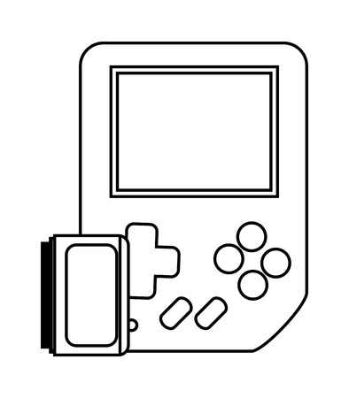 obsession: Videogame device icon. Game play leisure gaming and controller theme. Isolated design. Vector illustration