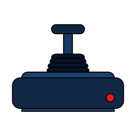Videogame joystick icon. Game play leisure gaming and controller theme. Isolated design. Vector illustration Illustration
