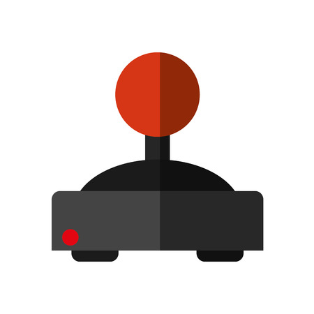 videogame: Videogame joystick icon. Game play leisure gaming and controller theme. Isolated design. Vector illustration Illustration