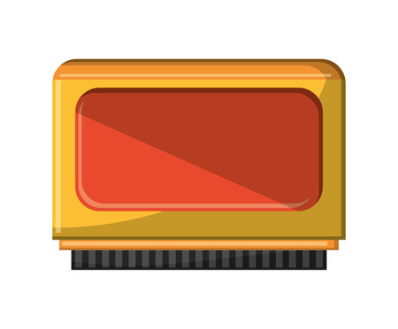 obsession: Videogame card icon. Game play leisure gaming and controller theme. Isolated design. Vector illustration