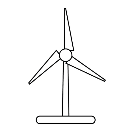wind mill: eco wind mill icon. Ecology renewable conservation and saving theme. Isolated design. Vector illustration Illustration