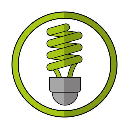 eco light bulb icon. Ecology renewable conservation and saving theme. Isolated design. Vector illustration