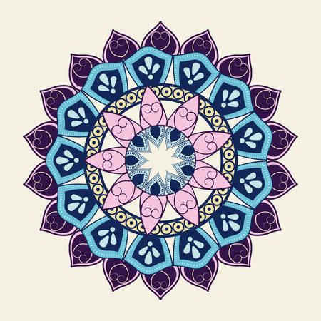 Mandale icon. Bohemic ornament indian and decoration theme. Colorful design. Vector illustraton