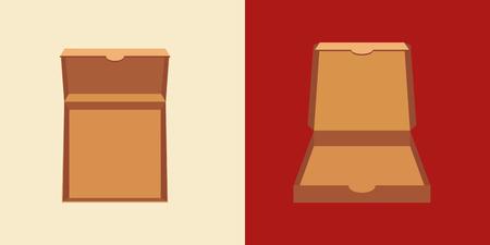 food distribution: cardboard pizza box image vector illustration design Illustration