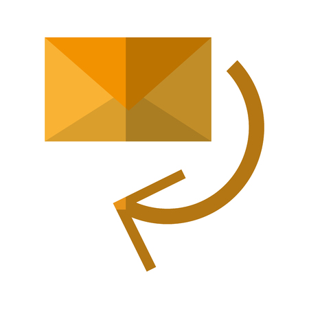 Envelope icon. Email mail message letter and marketingl theme. Isolated design. Vector illustration Illustration