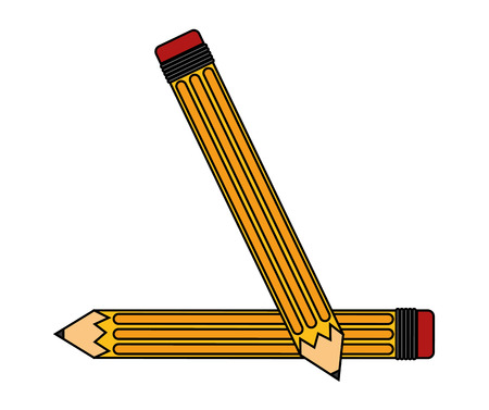 secretarial: Pencil tool icon. Write office object and instrument theme. Isolated design. Vector illustration Illustration