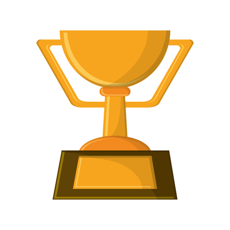 competitors: Trophy cup icon. Winner competition success and sport theme. Isolated design. Vector illustration Illustration