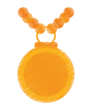 competitor: Medal icon. Winner competition success and victory theme. Isolated design. Vector illustration Illustration