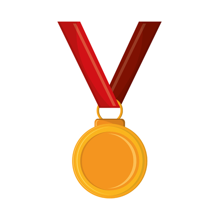 first job: Medal icon. Winner competition success and victory theme. Isolated design. Vector illustration Illustration
