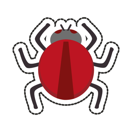 parasitic infestation: Bug icon. Insect pest bed infestation and parasite theme. Isolated design. Vector illustration