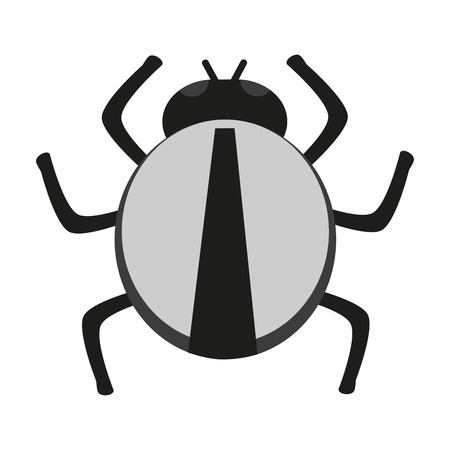 infestation: Bug icon. Insect pest bed infestation and parasite theme. Isolated design. Vector illustration