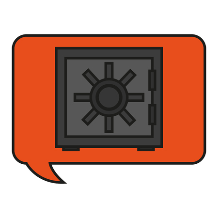 ecurity: Strongbox icon. Security system warning protection and danger theme. Isolated design. Vector illustration