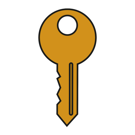 malware: Key icon. Security system warning protection and danger theme. Isolated design. Vector illustration