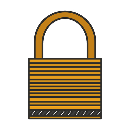 Padlock icon. Security system warning protection and danger theme. Isolated design. Vector illustration