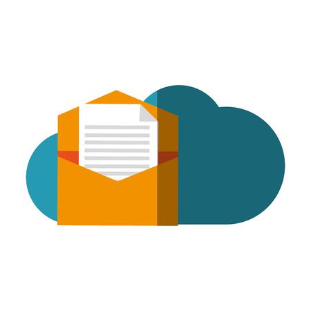 poststempel: Umschlag-Symbol. E-Mail-Mail-Nachricht Schreiben und Marketing-Thema. Isolierte Design. Vektor-Illustration
