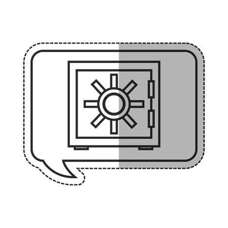 strongbox: Strongbox icon. Security system warning protection and danger theme. Isolated design. Vector illustration