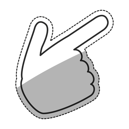human touch: Human hand touch icon. Finger gesture palm and communication theme. Isolated design. Vector illustration