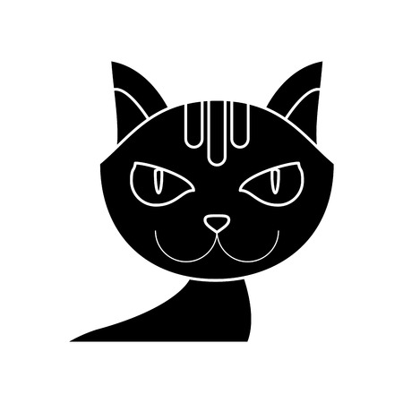 trusting: Cat cartoon icon. Pet animal domestic and care theme. Isolated design. Vector illustration