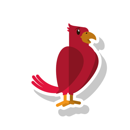 bonding: Bird icon. Pet animal domestic and care theme. Isolated design. Vector illustration