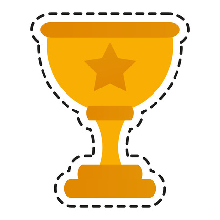 Trophy cup icon. Winner competition and success theme. Isolated design. Vector illustration