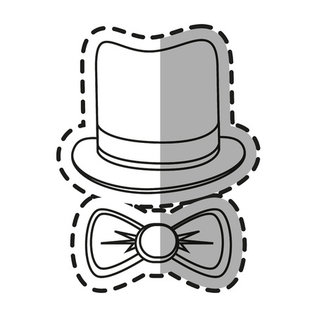 Hat and bowtie icon. Hipster style vintage retro fashion and culture theme. Isolated design. Vector illustration